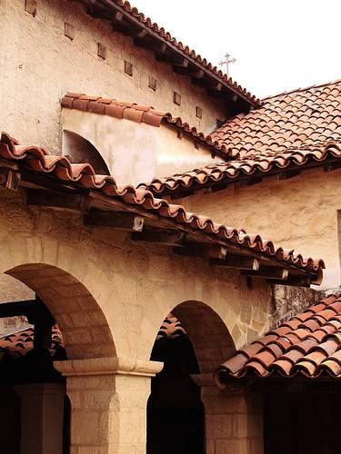 Tile roof by jane powell for Spanish clay tile roof
