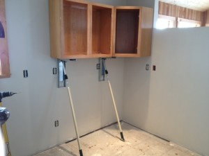 Built For Increasing Speed And Accuracy Of Installing Upper Kitchen Cabinets.  Perfect For Custom Or Manufactured Box Cabinets. Patent Pending.