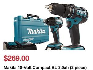 DeWalt DCK285C2 20-Volt Max Li-Ion Compact Hammerdrill & Impact Driver Combo Kit